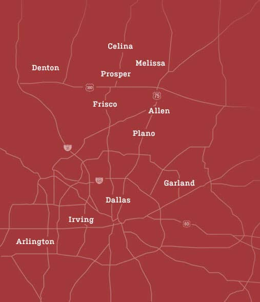 dfw metroplex map